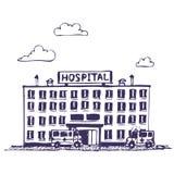 byggnadssjukhus vektor illustrationer