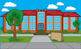 byggnadsskola stock illustrationer