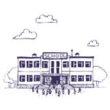 byggnadsskola Vektor Illustrationer