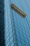 byggnadsstad som gör ren ny fönster Royaltyfri Foto