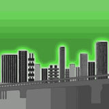 byggnadsstadsgreen Arkivfoto