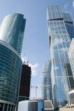 byggnadsstadsmoscow skyskrapor Royaltyfria Bilder