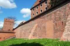 byggnadsstadspoland torun väggar royaltyfria foton