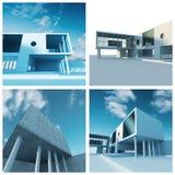 byggnadsstugaset stock illustrationer