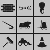 Byggnadssymboler vektor illustrationer