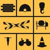 Byggnadssymboler stock illustrationer