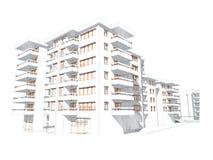byggnadsteckningsidén skissar Arkivfoto