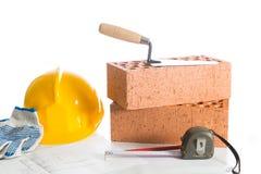 Byggnadstegelsten Fotografering för Bildbyråer