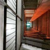 Byggnadstrappa Arkivfoto