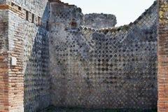 Byggnadsväggar, Pompeii arkeologisk plats, nr Mount Vesuvius, Italien Arkivbild