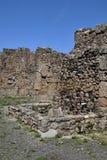 Byggnadsväggar, Pompeii arkeologisk plats, nr Mount Vesuvius, Italien Royaltyfri Fotografi