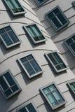 byggnadsväggfönster Arkivbilder