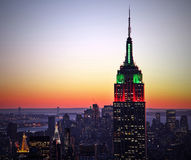 byggnadsväldemanhattan nytt tillstånd USA york Royaltyfria Bilder