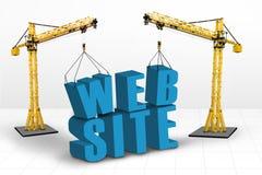 Byggnadswebsitebegrepp Arkivfoton