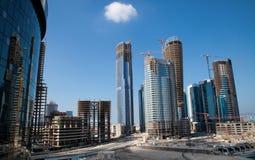 Byggnation ABU DHABI Royaltyfri Foto