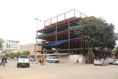Byggnation i Mbabane, Swaziland, sydliga Afrika, afrikansk stad Royaltyfria Foton