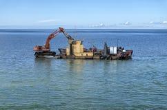 Byggnation på havet Royaltyfri Fotografi