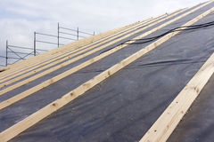 Byggnationer av konstruktion och isolering av ett tak Royaltyfri Foto