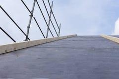 Byggnationer av konstruktion och isolering av ett tak Arkivbilder