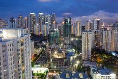 Byggnationer i Kuala Lumpur, Malaysia Royaltyfri Bild