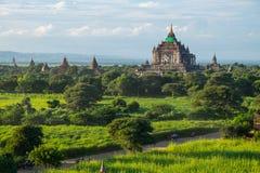 That Byin Nyu pagodas in Bagan ancient city after earthquake, Ma Royalty Free Stock Photos