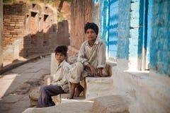 byinvånare för oskyldig två för barn indisk Royaltyfri Foto