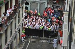byków Pamplona Spain czekanie Zdjęcia Royalty Free