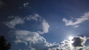 Byk chmura z słońcem w plecy Zdjęcie Royalty Free