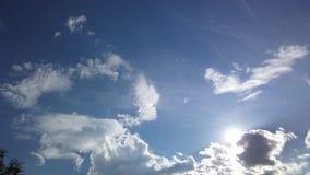 Byk chmura z słońcem w plecy Zdjęcia Royalty Free