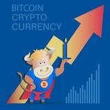 Byk z świeczką i pieniężna świeczka wtykamy wykres Zdjęcia Stock