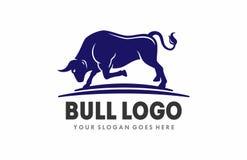 Byka żubra bizonu logo ilustracja wektor
