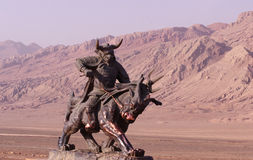 byka demonu królewiątka statua Obraz Stock