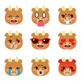 Byka Emoji Avatar wyrażenia royalty ilustracja