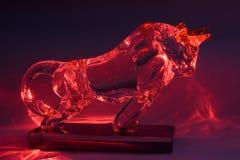 byka kryształu czerwień Zdjęcia Royalty Free