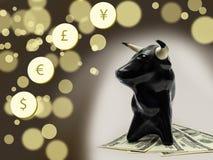 Byka rynek finansowy Fotografia Stock