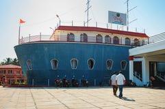 Byke Stara kotwica w Goa, India obrazy royalty free