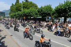 Bykers du défilé à Harley Days suisse à Lugano sur Switz Images libres de droits