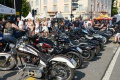 Bykers du défilé à Harley Days suisse à Lugano sur Switz Image stock