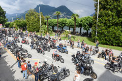 Bykers du défilé chez Harley Days suisse à Lugano Photo stock