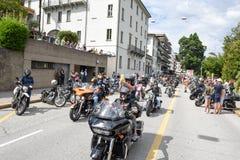Bykers du défilé chez Harley Days suisse à Lugano images libres de droits