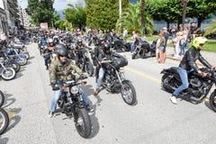 Bykers du défilé chez Harley Days suisse à Lugano images stock