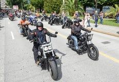 Bykers du défilé chez Harley Days suisse à Lugano photographie stock