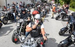 Bykers du défilé chez Harley Days suisse à Lugano image libre de droits