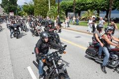 Bykers du défilé chez Harley Days suisse à Lugano photographie stock libre de droits