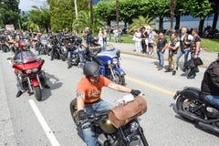 Bykers du défilé chez Harley Days suisse à Lugano image stock