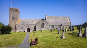 Bykyrka i Cornwall England Arkivbild