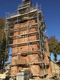 Bykyrka under renovering, Polen royaltyfria bilder