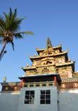 Bylajkuppe Tibetan monastery in India Stock Photos