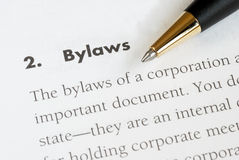 The bylaws of a corporation