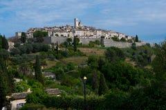 Byn av helgonet Paul de Vence Arkivbilder